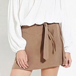 Richcoco - Plain A-line Skirt
