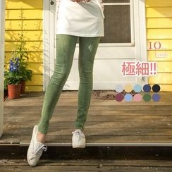 OrangeBear - Elastic-Waist Skinny Jeans