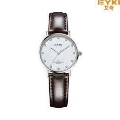 Periwinkle - Genuine-Leather Couple Matching Strap Watch