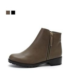 MODELSIS - Chunky-Heel Zipped Ankle Boots
