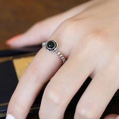 Blinglitz - Agate Open Ring
