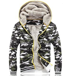 Blitz - Set: Camouflage Fleece Lined Zip Hoodie + Sweatpants