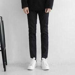 Seoul Homme - Straight-Cut Fleece-Lined Jeans