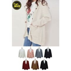 BONGJA SHOP - Loose-Fit V-Neck Cardigan