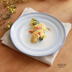 house on map - Ceramic Plate