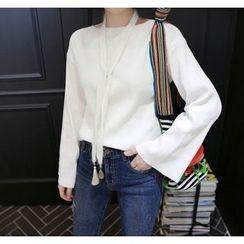 Miamasvin - Boat-Neck Kimono-Sleeve T-Shirt