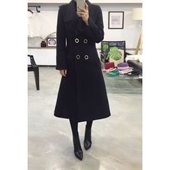 OZNARA - Double-Breasted Wool Blend Coat