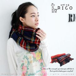 rico - Fringed Plaid Scarf