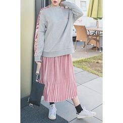 migunstyle - Band-Waist Pleated Skirt