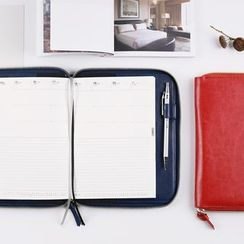 Class 302 - Faux Leather Medium Notebook