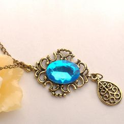 Fit-to-Kill - Blue Diamond Waterdrop Necklace