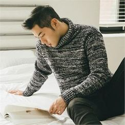 STYLEMAN - Turtle-Neck Knit Top