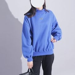 Sonne - Brushed Fleece-Lined Mock-Neck Pullover