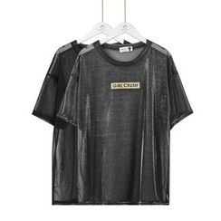 Momewear - Short-Sleeve Lettering T-Shirt