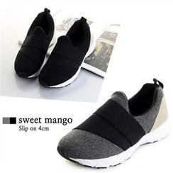 SWEET MANGO - Couple Banded Slip-Ons