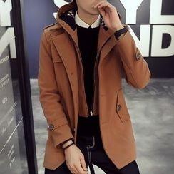 Besto - Knit Coat with Detachable Coat