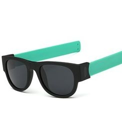 AORON - Thick Frame Folding Sunglasses