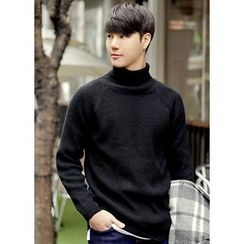 JOGUNSHOP - Turtle-Neck Raglan-Sleeve Sweater