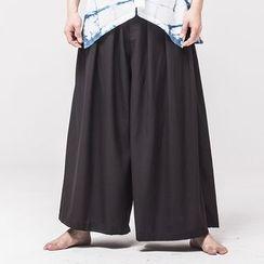 Ashen - Wide-Leg Kimono Pants