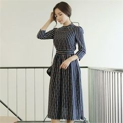 CHICLINE - Pattern-Printed Long Dress