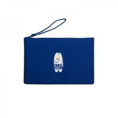 LIFE STORY - 'kiitos' Series Embroidered Wristlet Clutch