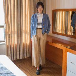 chuu - Wide-Leg Cotton Pants