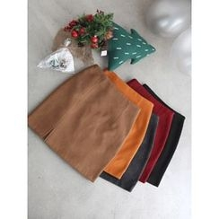 hellopeco - Slit-Front Pencil Skirt