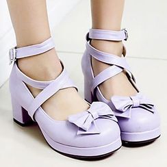 Sidewalk - Strappy Bow Pumps
