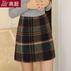LITI - 格子A字針織裙