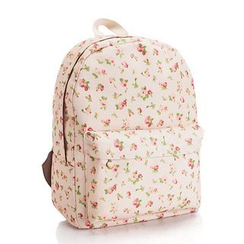 YUNA - Floral Canvas Backpack