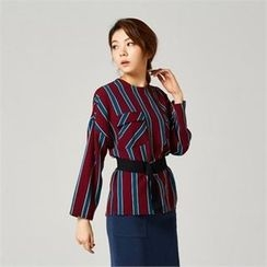 MAGJAY - Pocket-Front Striped Top