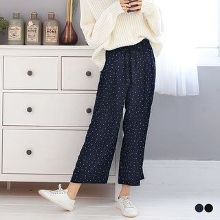 OrangeBear - Self-Tie Dotted Gaucho Pants