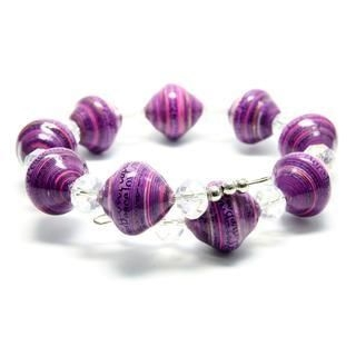 Papellery - Adjustable Bendable Big Diamond Paper Beads Bracelet