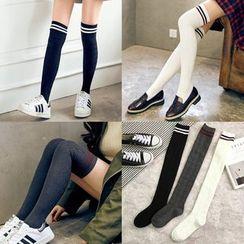FROME - Stripe Over-the-knee Socks