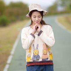 YR Fashion - Animal Print Pullover