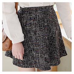 Sechuna - Band-Waist Melange Skirt
