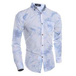 Hansel - 領帶-紮染長袖襯衫