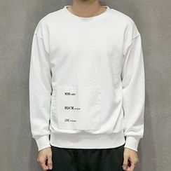 maxhomme - Lettering Applique Pullover