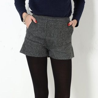 YesStyle Z - High-Waist Side-Zip Shorts