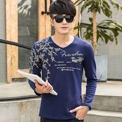 Seahound - Long-Sleeve Print T-Shirt