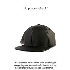 Ohkkage - Faux-Leather Baseball Cap