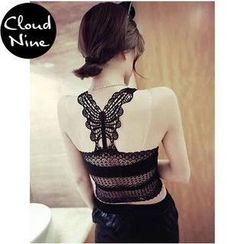Cloud Nine - Butterfly Lace Camisole