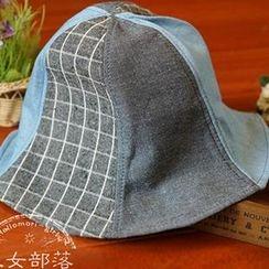 Moriville - Plaid Panel Hat