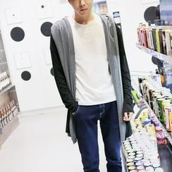 Bay Go Mall - Hooded Knit Open Front Jacket