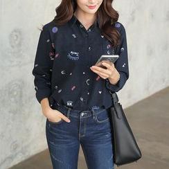 CLICK - Cotton Print Shirt