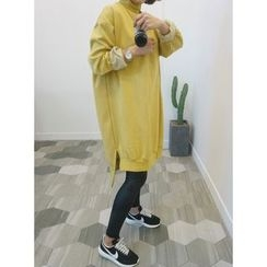 STYLEBYYAM - Turtle-Neck T-Shirt Dress