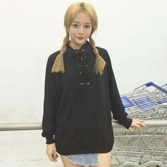Dute - Lace-Up Pullover