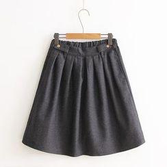 Vateddy - Plain Midi Skirt