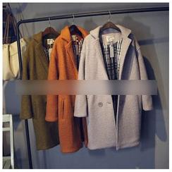 芷蓯夕 - 雙排扣羊毛大衣