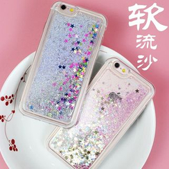 Little Moment - Glitter Silicone Mobile Case - iPhone 6s / 6s Plus / 5s